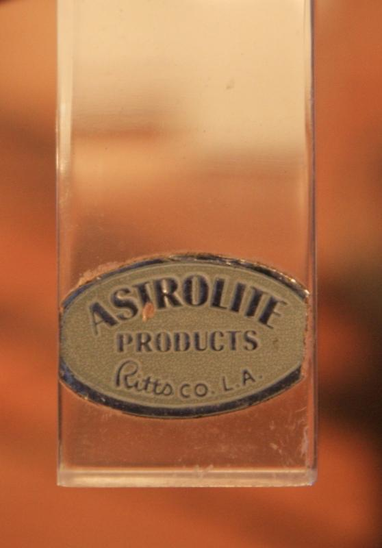 ASTROLITE, Ritts Co. LA; BEST Pair of 1960's LUCITE LAMPS, Mid Century Modern design