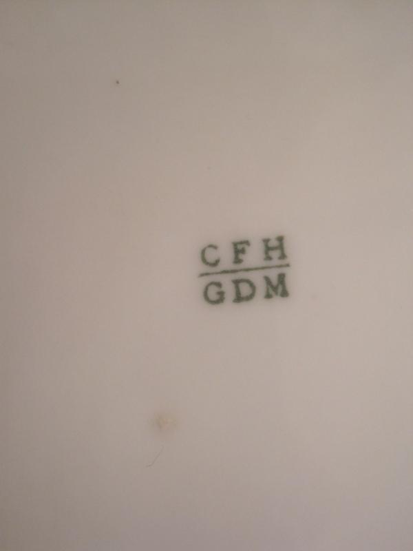 HAVILAND LIMOGES CFH/GDM STAMP STUNNING SNACK SET FOR 4 HAND-PAINTED GILDED