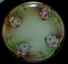 Plate, Hand-Painted, Signed, Gold Embelished