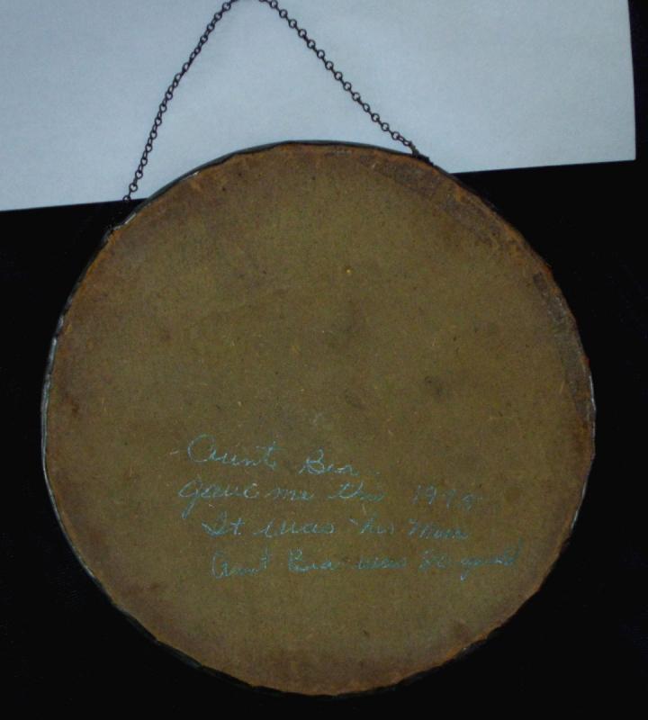 Antique Lithographed Cherub Flue Cover