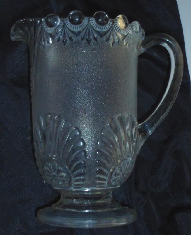Late 19th Centurey Pressed Glass Pitcher