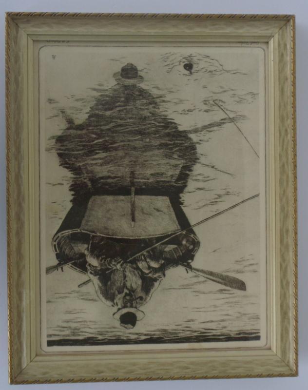 1956 print by R.H. Palenske JUST FISHIN'