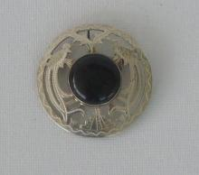 STERLING SILVER PIN With Black Center Stone