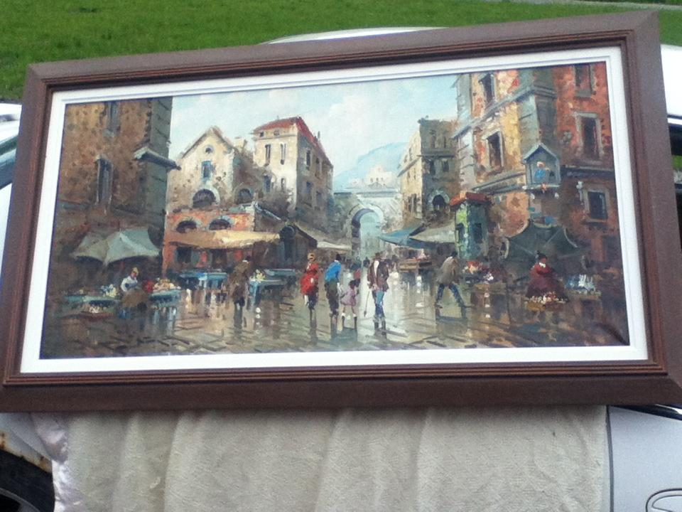 painting of Italy 4x24