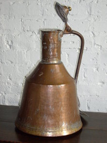 COPPER VESSEL WITH LID