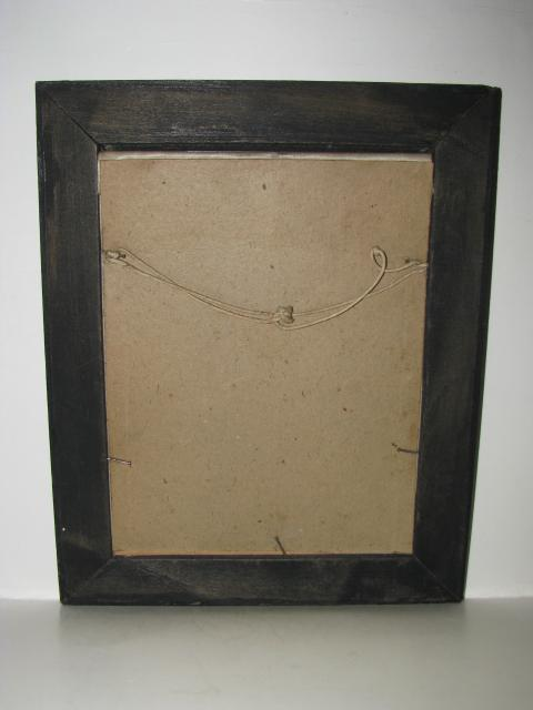 Early General George Washington Print On Silk Fabric Wooden Frame