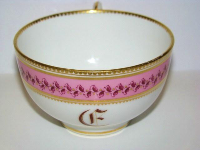 Royal Worcester England Elegant Pink & Gold Decorated 3 Piece Place Setting
