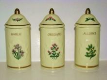 Lenox Spice Garden Fine Porcelain 1992 Spice Jar & Cover