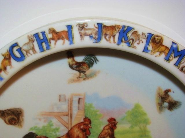 ABC Germany Alphabet Rooster & Hens Childs Bowl