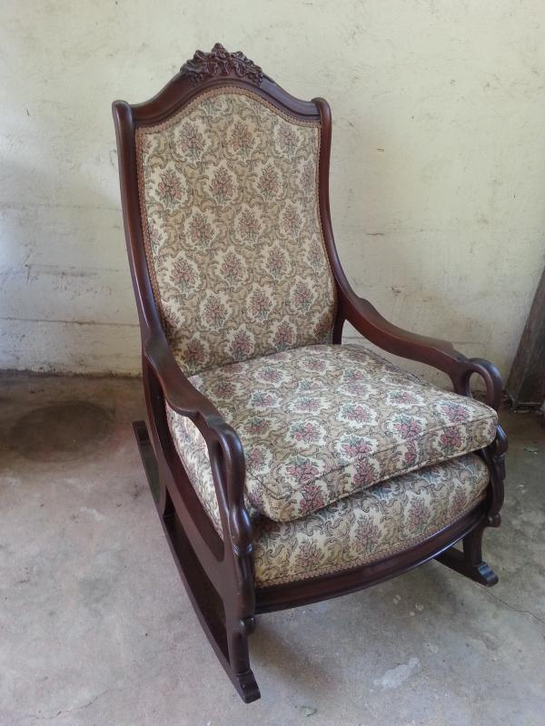 Antiques Art Vintage – Swan Arm Rocking Chair
