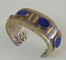 Silver and Brass Ethnis Bracelet