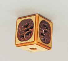 Ivory Hand Carved Cube Netsuke
