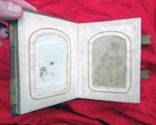 Interesting Civil War Tintype CDV Photo Album