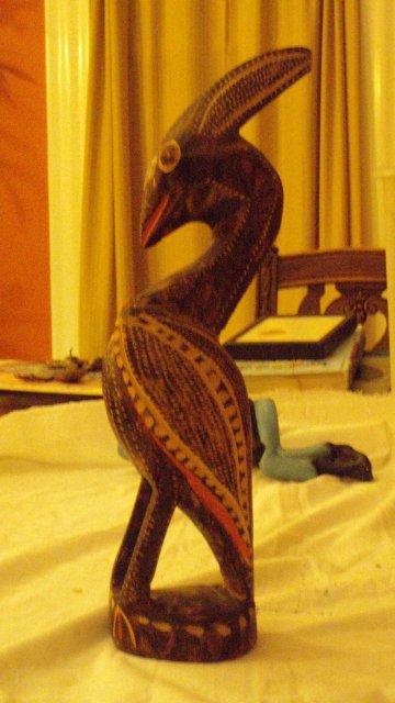 carved native bird