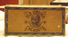 old virginia cheroots cigar box