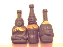 bottle-like figures set of 3