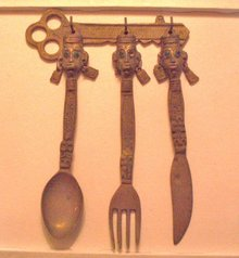 african native hanging flatware