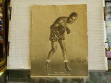joe louis1932 window show card