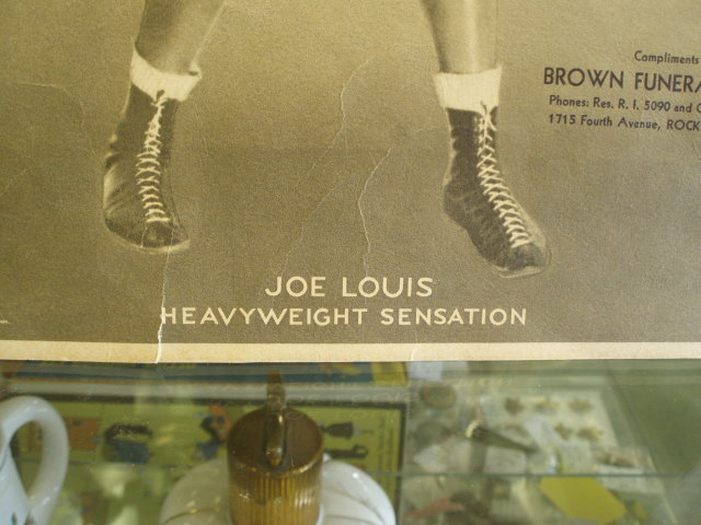 joe louis1932 window show card