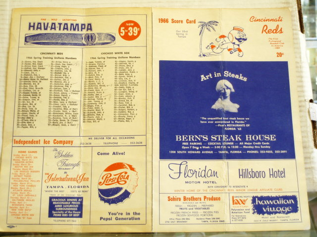 1940's scorecard cardinals vs.white soxs