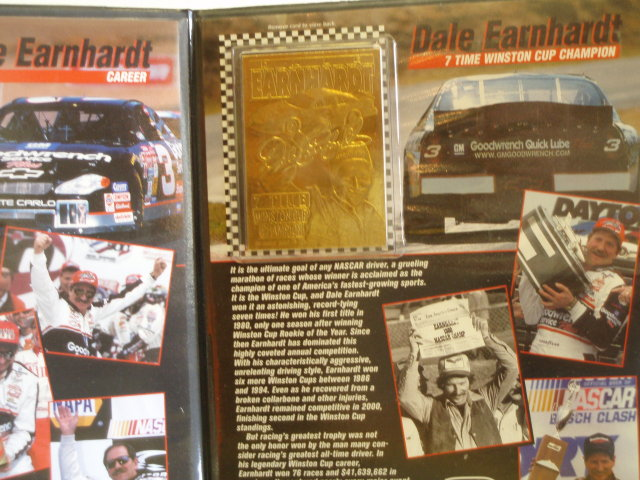 2001 dale earnhardt  sr. career and championship  23kt trading cards
