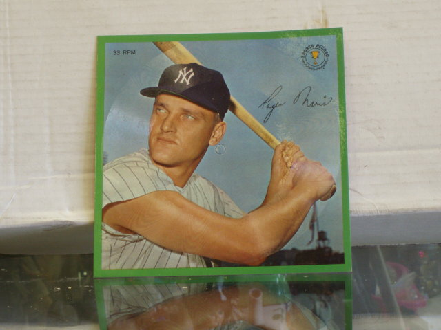 roger maris picture records 33 1/3 rpm  stats from 1953 - 63