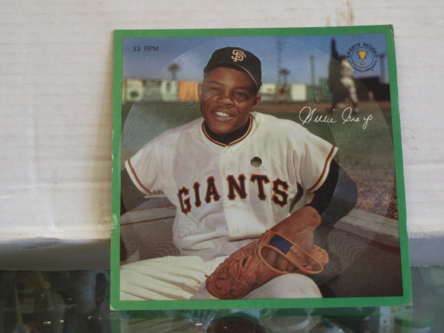 willie mays picture records 33 1/3 rpm  stats from 1950 - 63