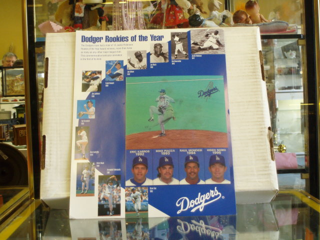 1995 dodgers rookies of the year 3 d picture  from 47 -95