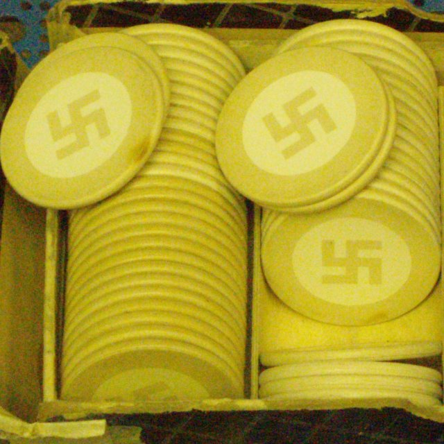 nazi poker chips (white) sold individually