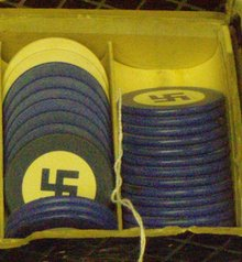 nazi poker chips (blue)sold individually