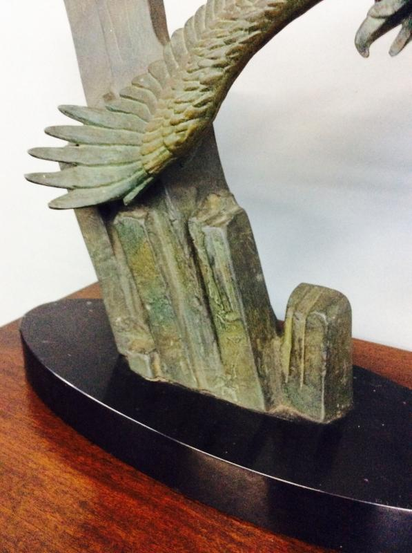 French Bronze Sculpture Signed Rulas
