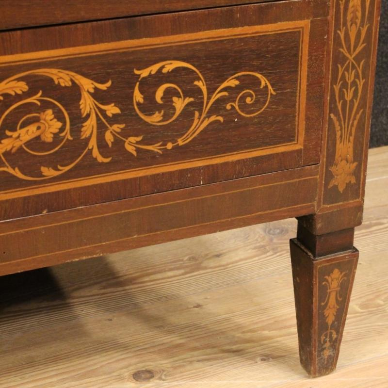 20th Century Italian Inlaid Tallboy In Louis XVI Style
