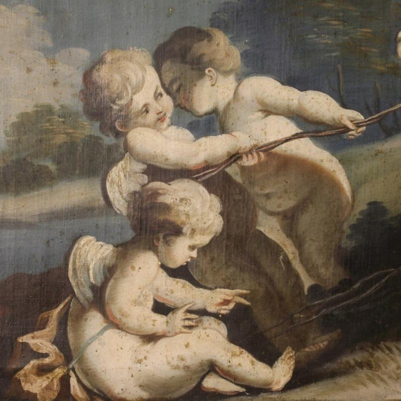 18th Century Italian Painting Game of Little Angels
