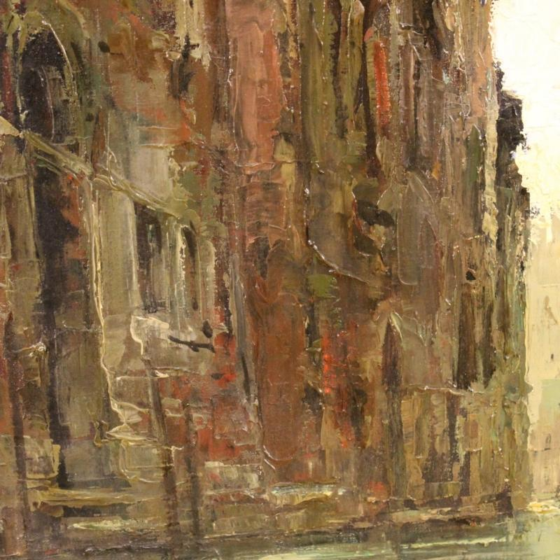 20th Century Italian Signed Painting View Of Venice