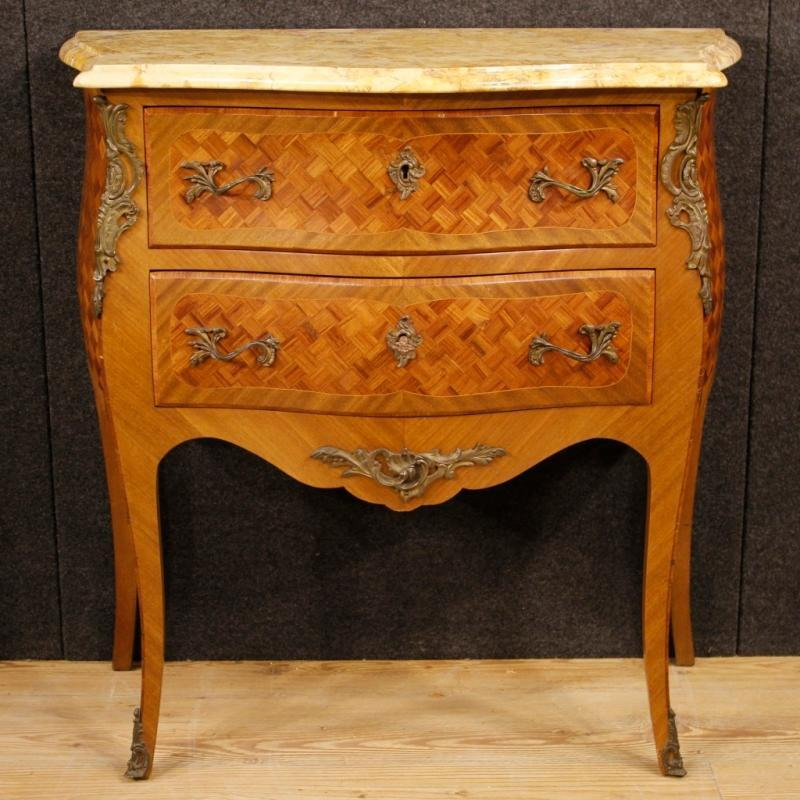 20th Century French Inlaid Dresser In Louis XV Style