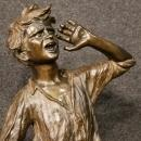 20th Century Neapolitan Signed Sculpture In Bronze