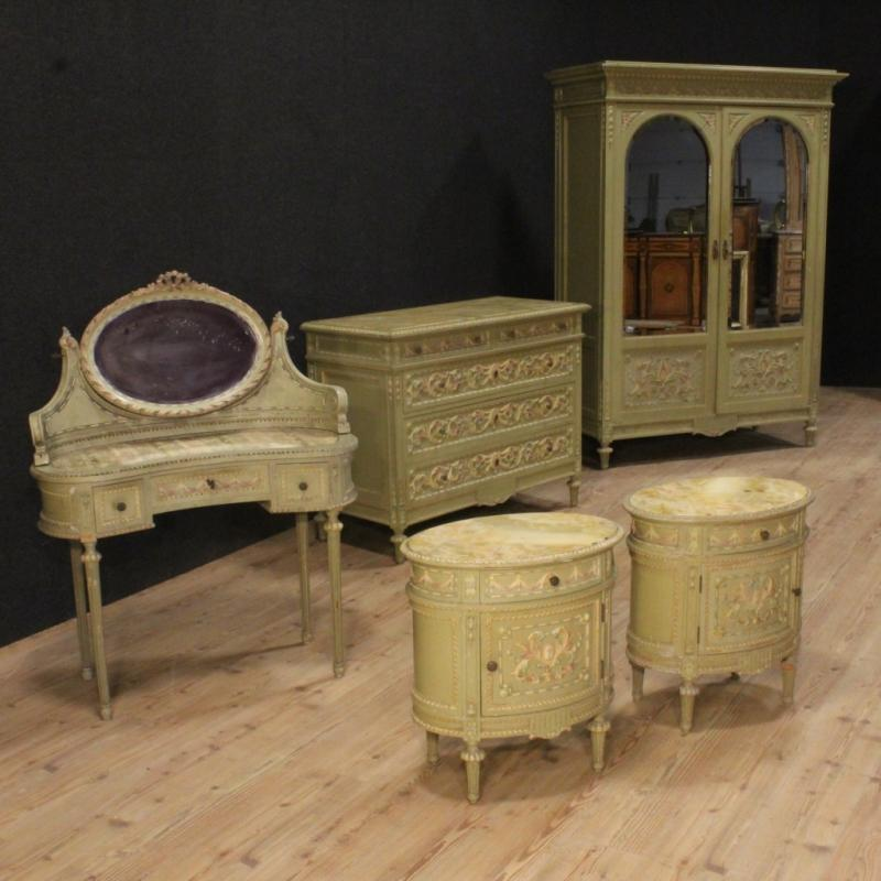 20th Century Italian Lacquered And Painted Wardrobe