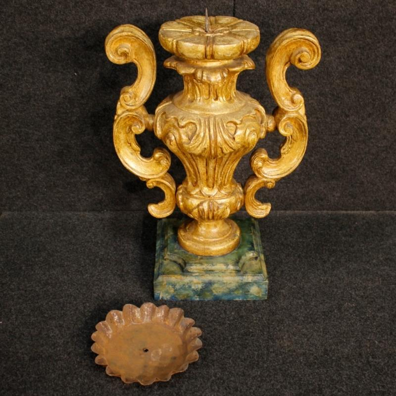 20th Century Pair Of Italian Lacquered Candelabras