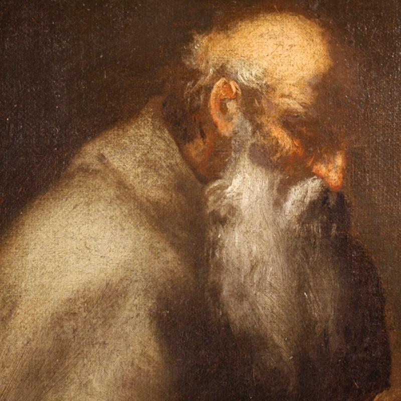 18th Century Italian Religious Painting Saint Jerome