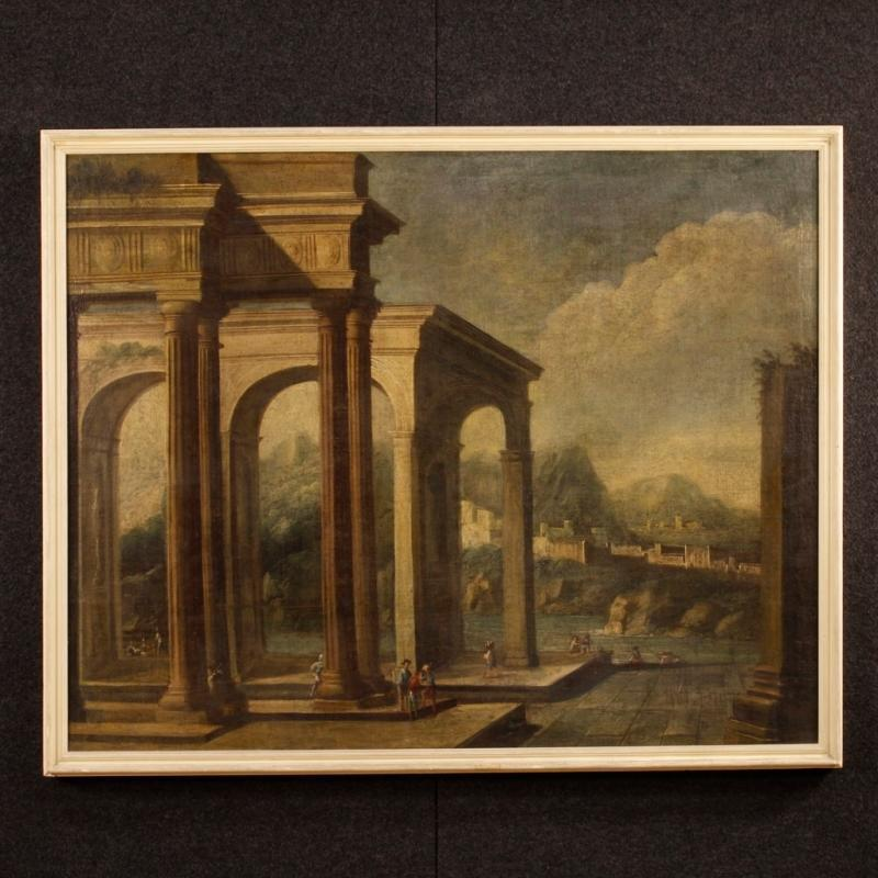 18th Century Italian Painting Architectural Landscape