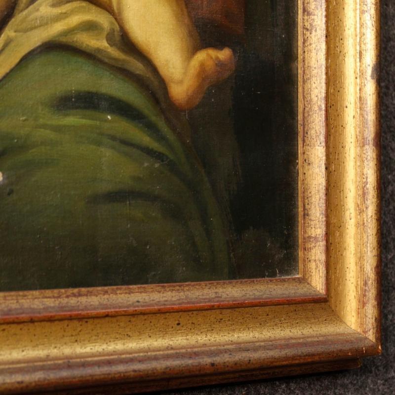 20th Century Italian Religious Painting Depicting Holy Family