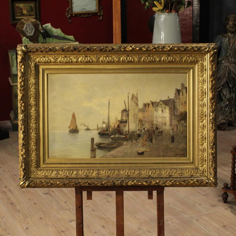 20th Century Seascape Painting Signed R. Wagner