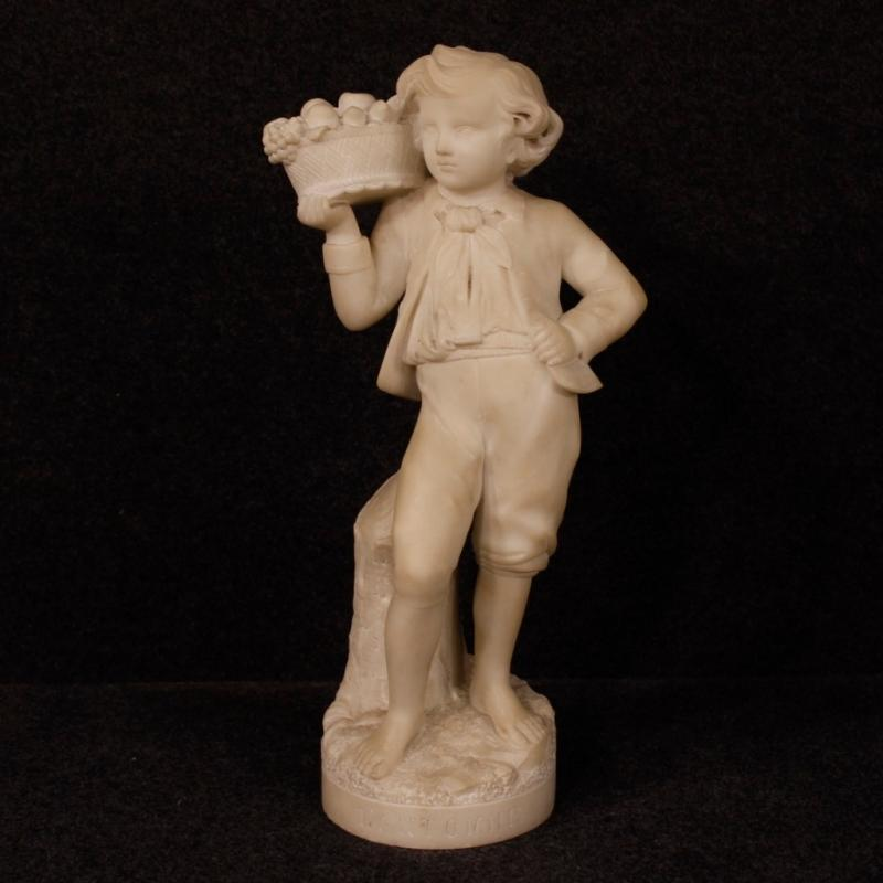 20th Century French Autumn Sculpture In Alabaster