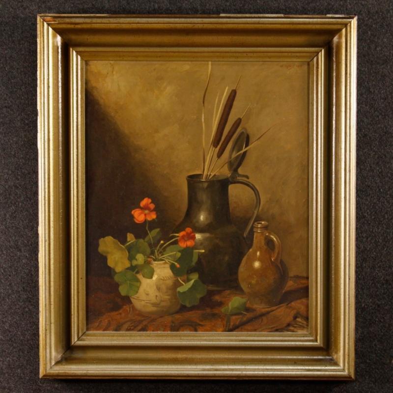 20th Century Dutch Oil Still Life Painting