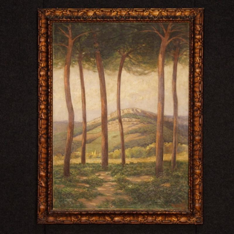20th Century Spanish Signed Landscape Painting