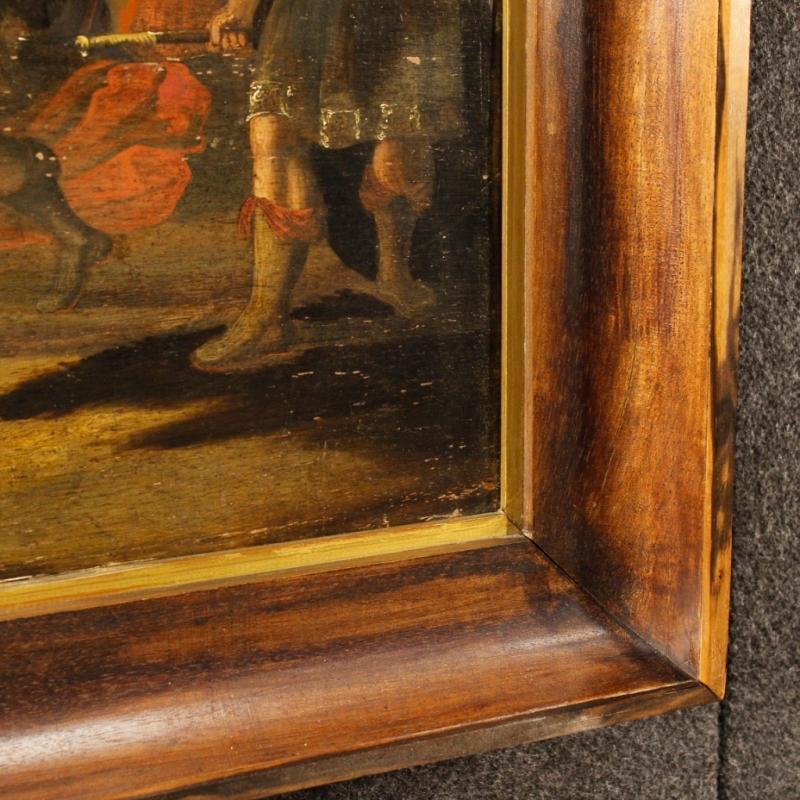 18th Century Flemish Religious Painting David's Triumph