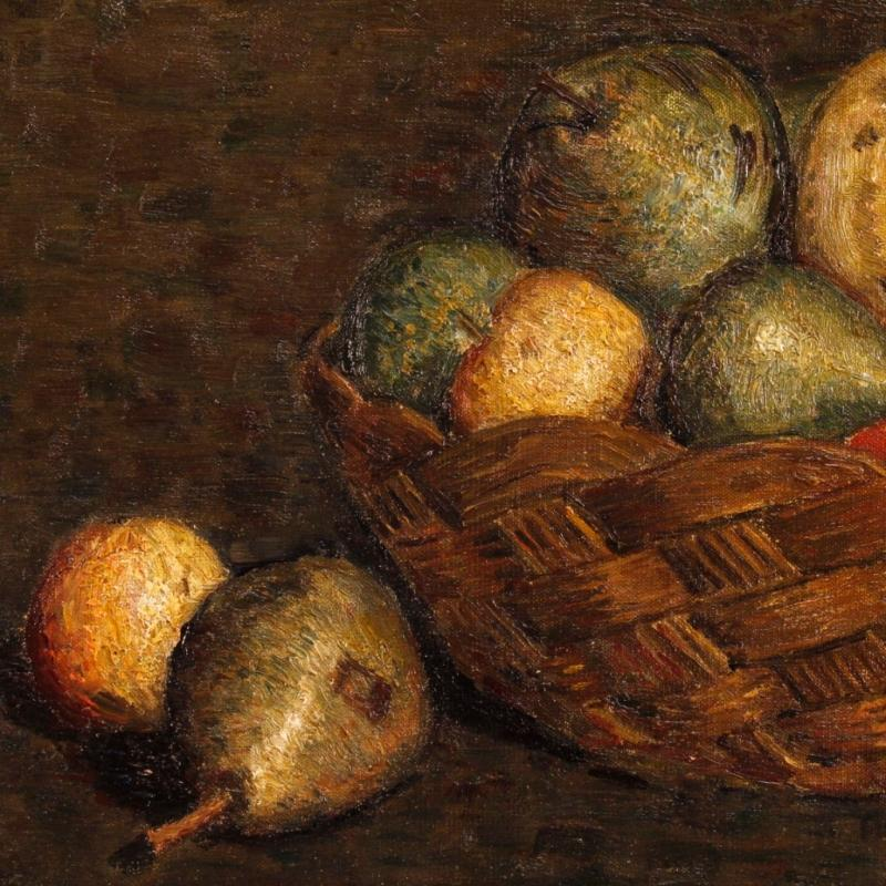 20th Century Dutch Still Life Oil Painting Signed And Dated