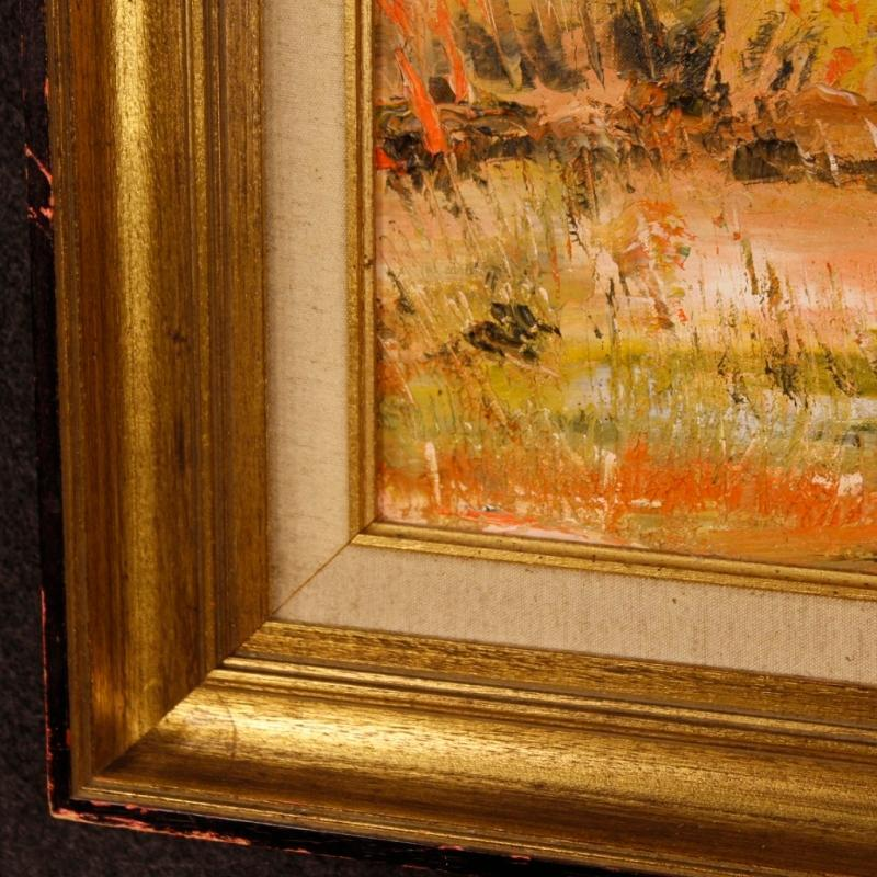 20th Century Dutch Signed Oil Painting Depicting Impressionist Landscape