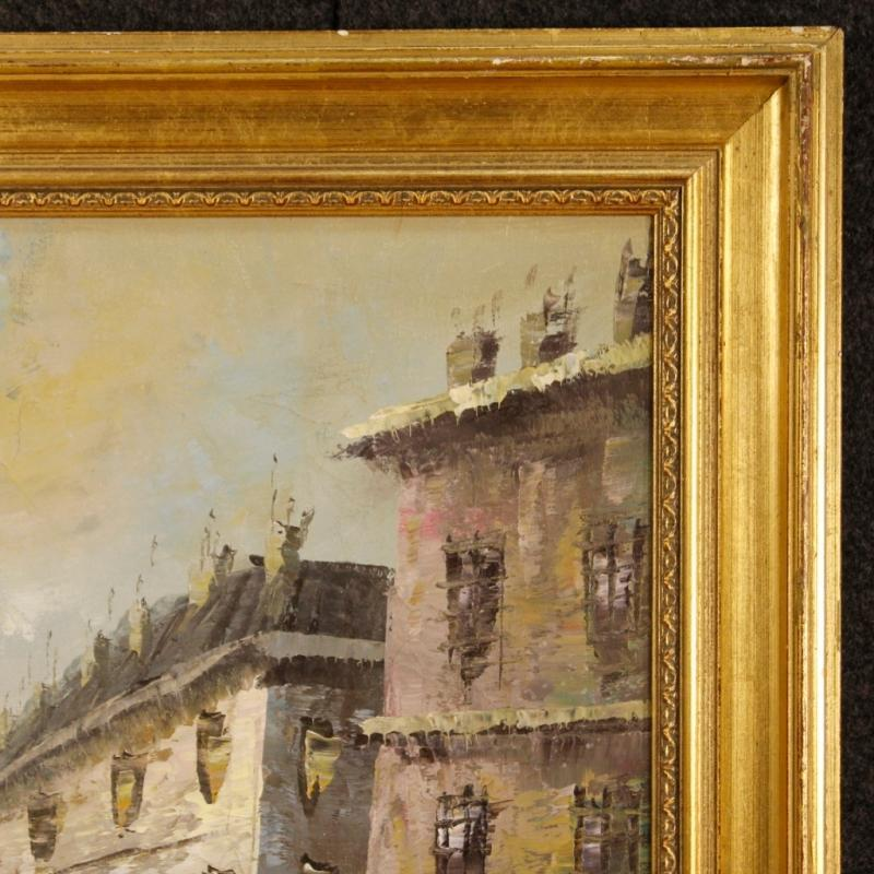 20th Century French Oil Painting Depicting Paris View