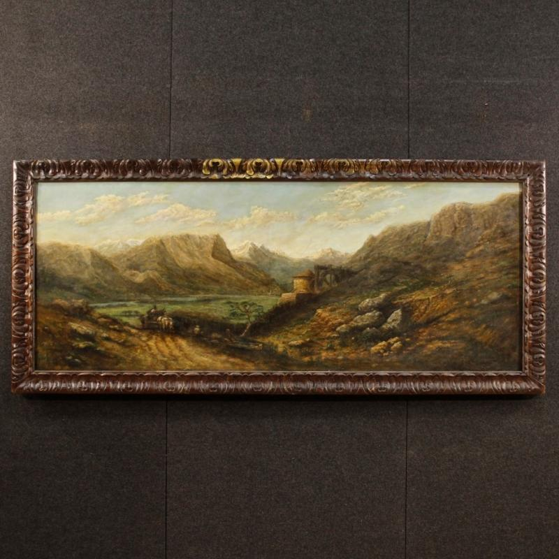 20th Century French Signed Landscape Oil Painting